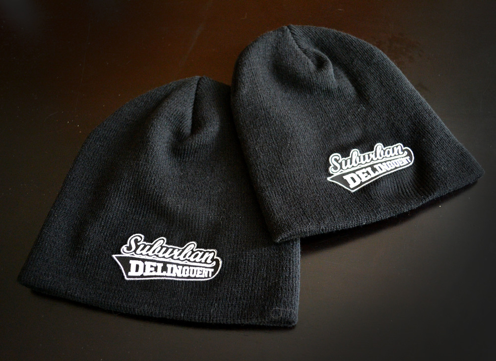 27b7e9f8d67 SD Tight Knit Beanie Hat — Suburban Delinquent Motovlog Motorcycle Videos  POV
