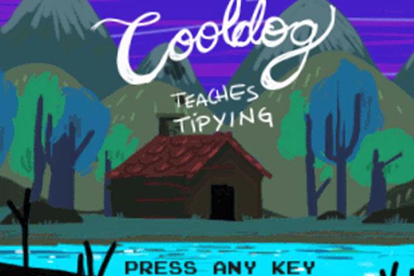 """Cooldog Teaches Typing"" by Renaud Bédard, Zander Milroy, Cuxo Quijano, Jen Costa"