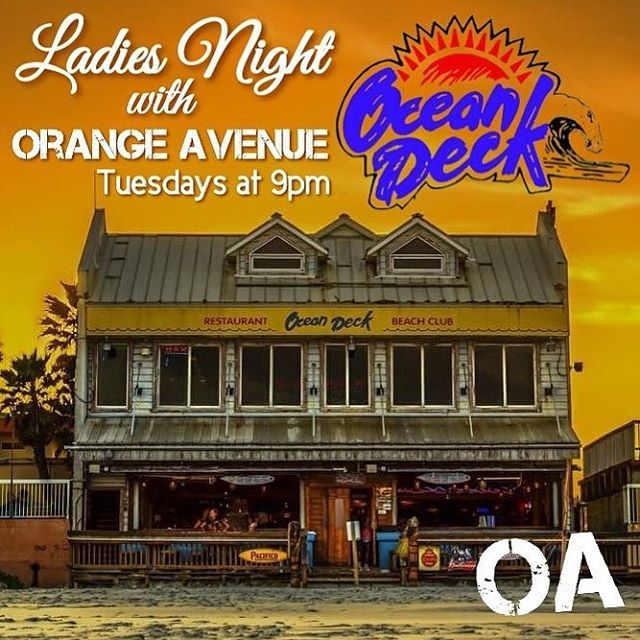Tonight at @oceandeck in #daytonabeach