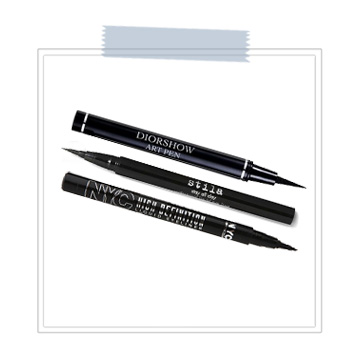 "Felt Tip Eyeliner  Almost all of our clients ask which eyeliner is best to use while wearing lash extensions. The ONLY type that we recommend is a ""felt-tip"" or ""marker-tip"" liner. Crayon and cream liners can build up on your lash line and in between your extensions causing a multitude of issues. Invest in a good felt-tip liner. There are several on the market, but our favorite is Stila's Stay All Day Waterproof Eyeliner. We also recommend Dior Show Art Pen and NYC High Definition Liquid Eyeliner.   BUY - DIOR    BUY - STILA    BUY - NYC"