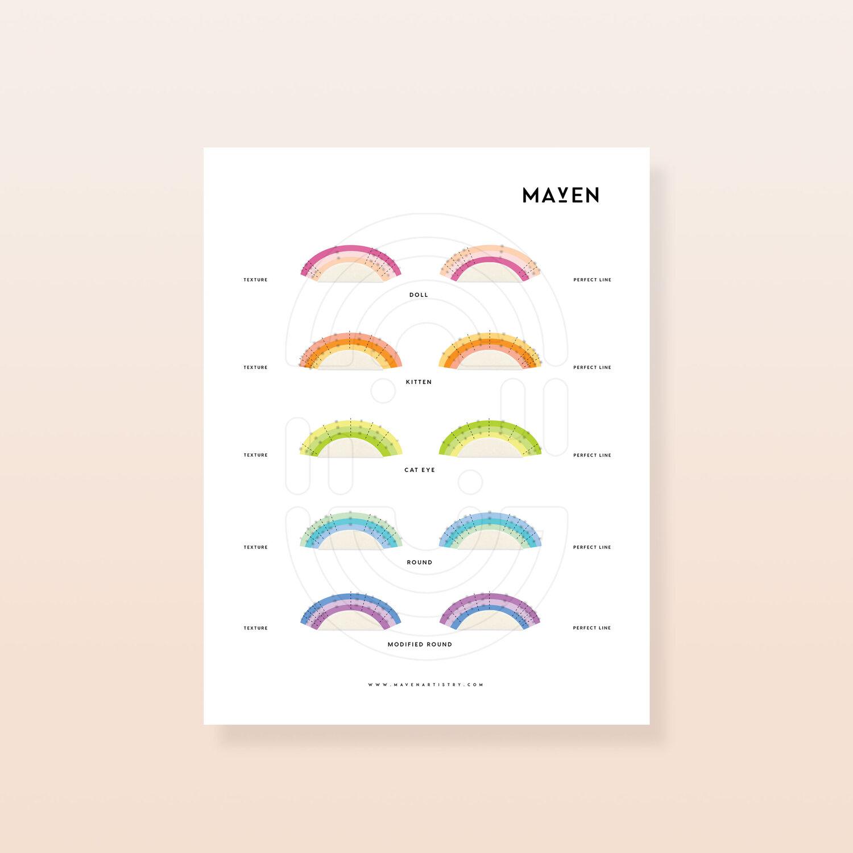 5419ca5af20 Lash in Layers Lash Practice Chart — Maven Artistry