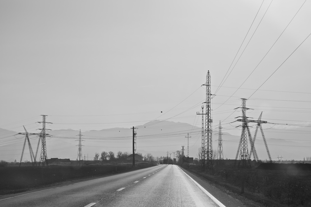 Driving in Romania. Photo from Rosa van Wyk, On the Road. European road trip from Barcelona to Transylvania 2014.