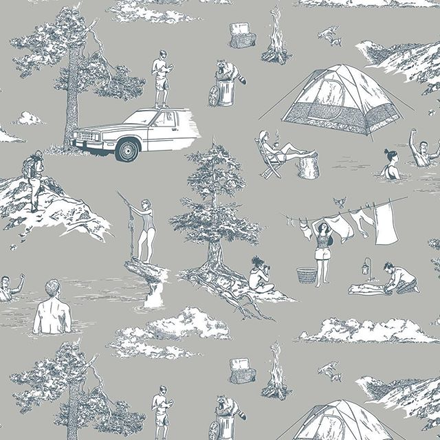 Labor Day weekend vibes // we hope you all get to soak up this last long weekend of summer!! Adorable toile pattern encompassing all the summer feels by @melanieamaral