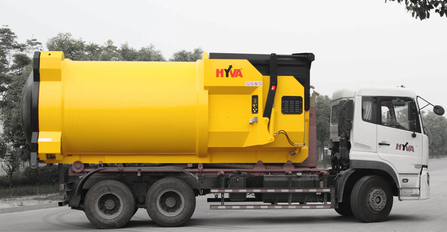 Hyva - Waste Compactor: Clean design in a dirty business