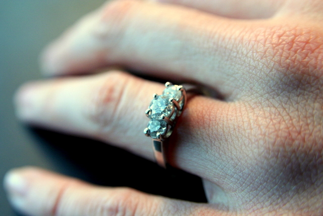 Three Stone Engagement Ring Dallas