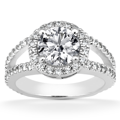 Diamond Halo Ring Dallas
