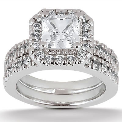diamonds dallas wedding band set