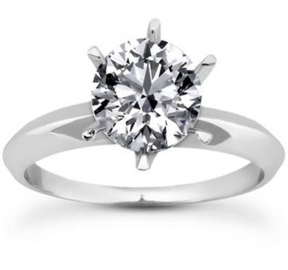 round diamond solitaire engagement ring dallas