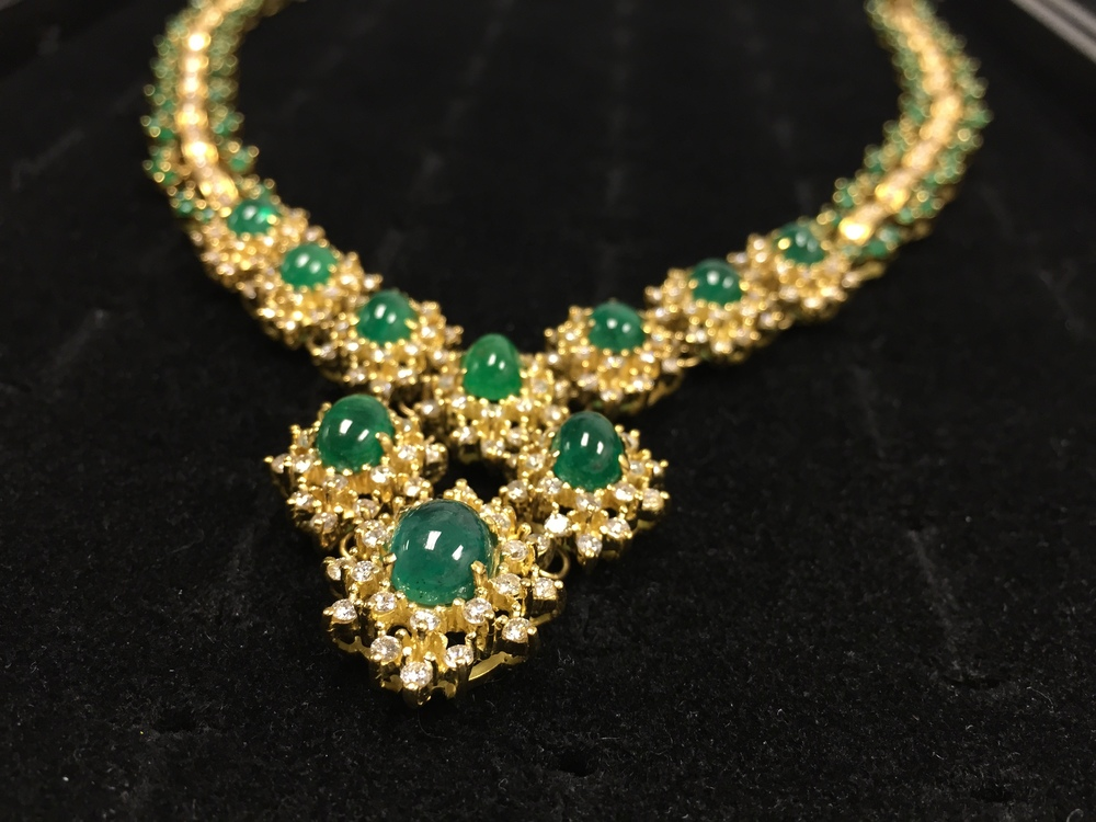 Diamonds & Emeralds 18K Gold Necklace