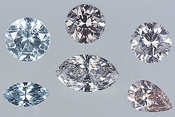 HPHT treated diamonds.