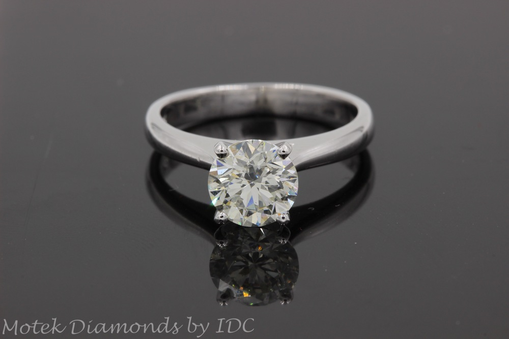 Round Diamond Solitaire Engagement Ring Motek Diamonds by IDC Dallas TX