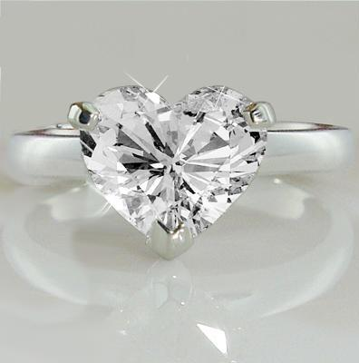 Latest Designs in Heart Shaped Diamond Rings Motek Diamonds by IDC