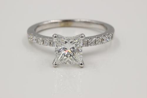 princess cut diamond engagement ring made by motek diamonds - A Wedding Ring