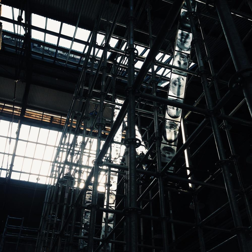 Christian Boltanski,  Chance , installation view, Carriageworks, Sydney, 2014. Photo: Pedro de Almeida.