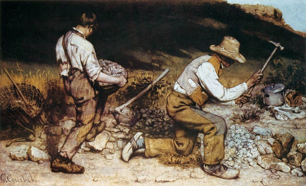 Gustave Courbet,  The Stonebreakers  (1849).