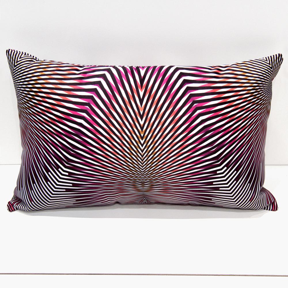 Delta  Cushion  'Arc-Ray'  in Magenta by Eleana Sikiotis for Bespoke by Imprintives.com.au    © 2010 - 2014 ELEANA SIKIOTIS