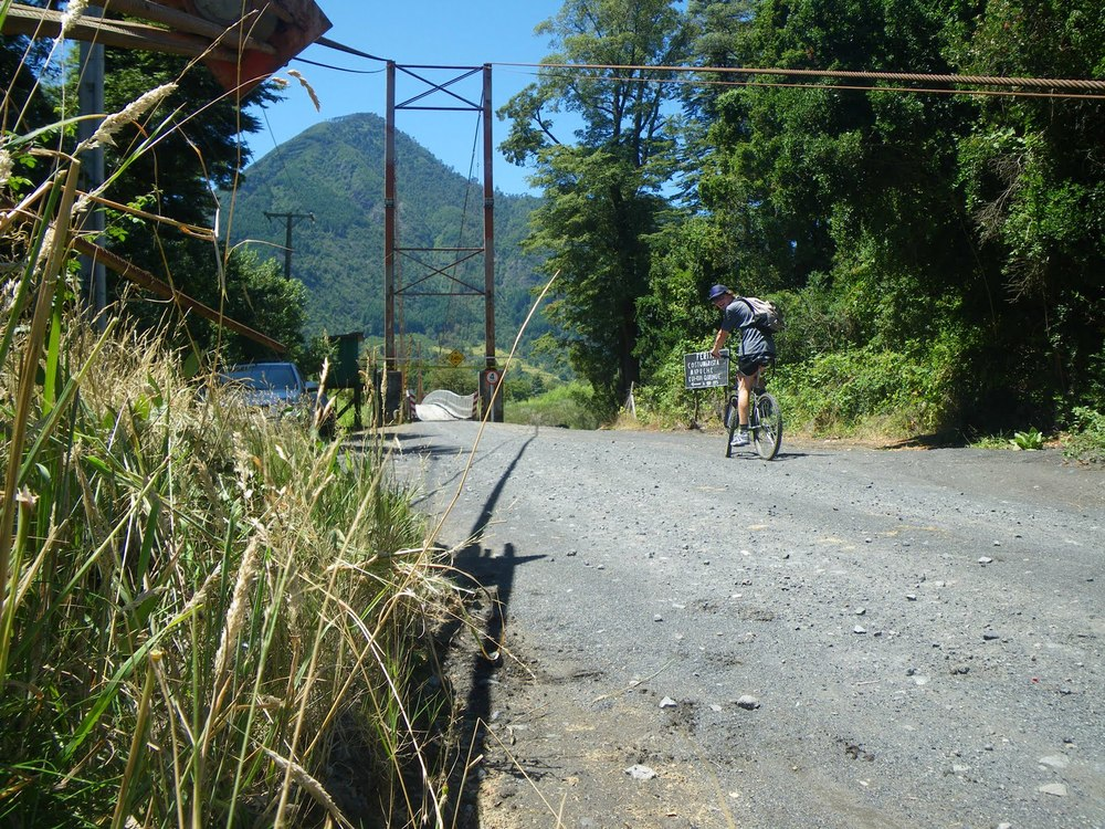 Biking in the hills around Pucon, Chile