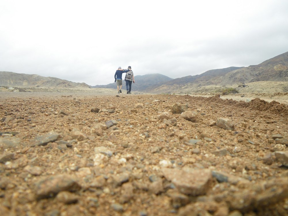 Walking with Ted in Atacama desert, Chile