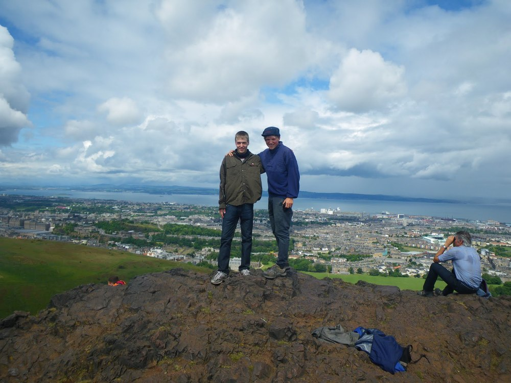 View from Arthurs Seat just outside the magnificent capital of Scotland   Where: Edinburgh, Scotland