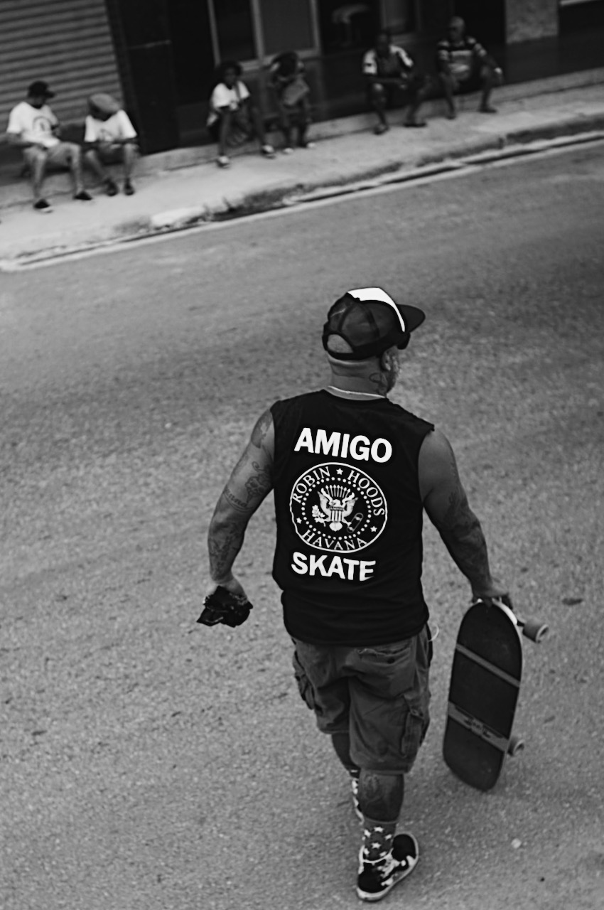 Amigo Skate Cubas founder preparing to lead the charge on Go Skateboarding Day Havana 2015. Photo: Chris Miller.