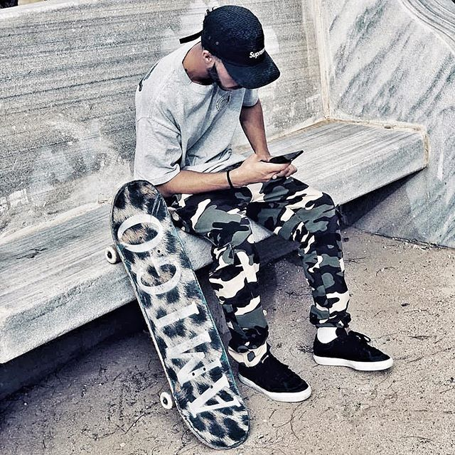 "Urban camouflage #streetstyle with @gary_freestyle shot during a skate session at ""El Presidente,"" #amigoskatecuba #tillthewheelsfalloff  Photo: @alvarolores.sk8"