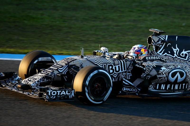 Inspired by WWII ship camouflage techniques, this pre-season testing livery caused quite a stir amongst F1 fans.