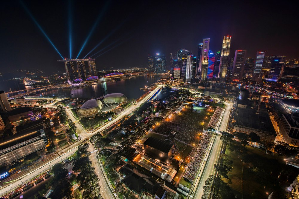 A night race on the streets of Singapore makes for a stunning location to race.