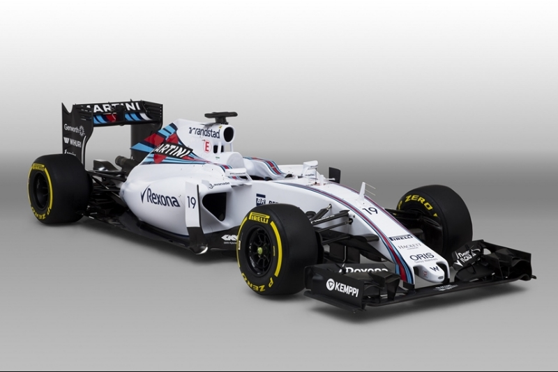 Williams/Martini Racing has one of the best-looking cars on the grid. Lots of clean lines, negative space and thoughtfully-placed sponsorships.