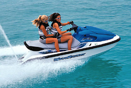 Jet skiing in Grand Cayman