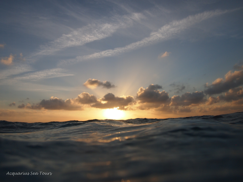 Grand Cayman sunset - water level