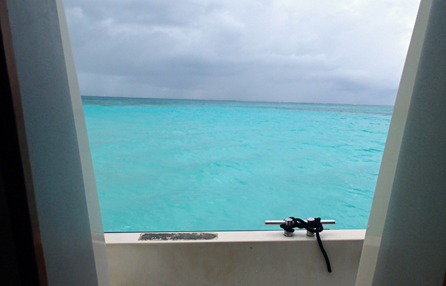 A glum day in Grand Cayman