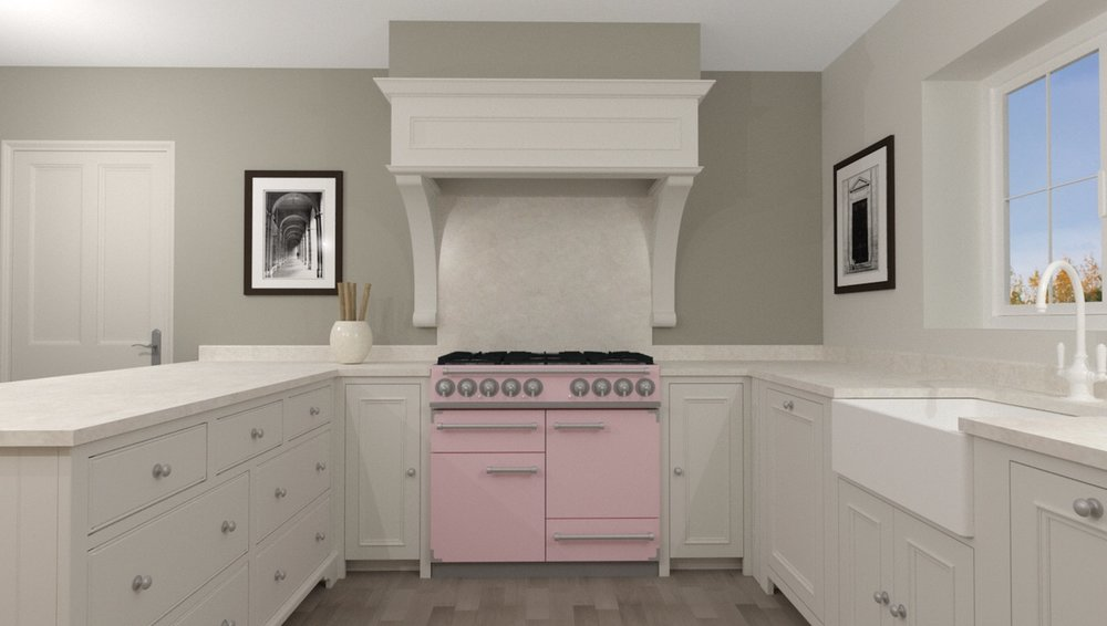 Quirky pink range cooker