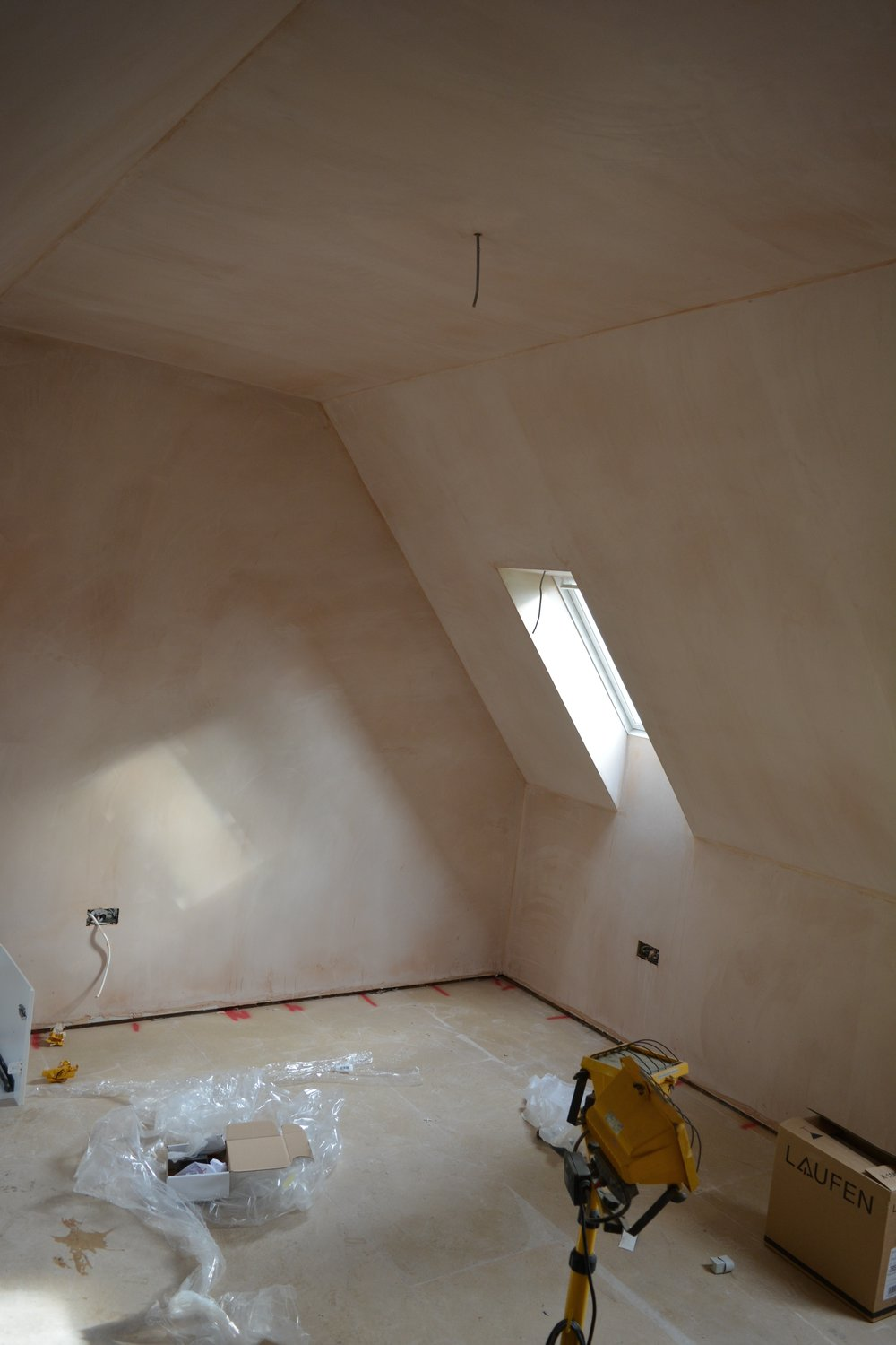 Master Bedroom plastered