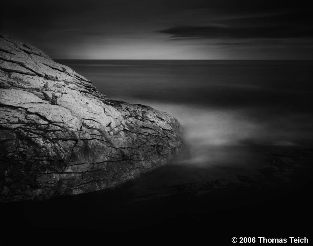 """Dark Ocean, Boulder, Maine""    —winner of  Black & White  Magazine's Gold Award in the Single Image Competition, 2011"