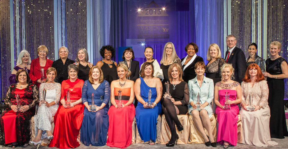 The 2013 WBE Stars and representatives of the Regional Partner Organizations at the Salute in Baltimore, MD.