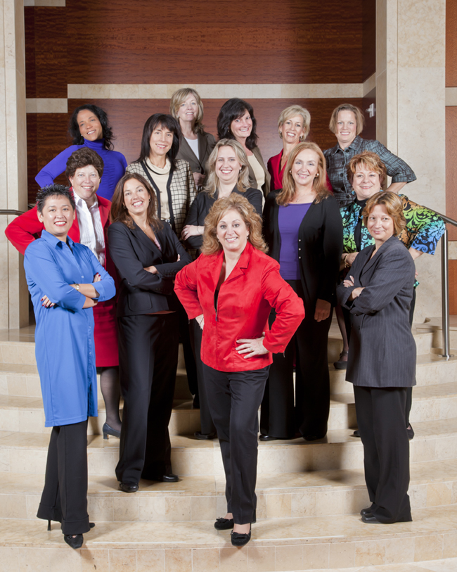Front L-R: Floriza Genautis, Rebecca Boenigk, Sharon Castillo.  Middle L-R: Patty Klein, Michelle McHenry, Candice Bennett, Pam Curry, Angie Hollerich. Back L-R: Beth Williams, Lorelei Carobolante, Janice Migliore, Monique Honaman, Janell McGill. Not pictured: Rosalie Edson.