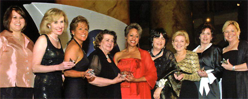 L-R: Betty Cole, Senior Director, Programs, WBENC; Regina Mellinger, President, Primary Services, L.P.; Mercedes La Porta, President, Mercedes Electric Supply, Inc.; Elizabeth Kearney, Ph.D., President, Kearney & Associates: The Experts' Alliance; Cynthia Johnson, President and Founder, Johnson & Associates Business Interiors Incorporated; Joan Kerr, Executive Director, AT&T Supplier Diversity Programs, AT&T; Valerie Freeman, CEO, Imprimis Group, Inc.; Loreley DeGeorge, President, Daystar Promotions, Inc.; Sharon Cannarsa, President, Systrand Manufacturing Corporation.