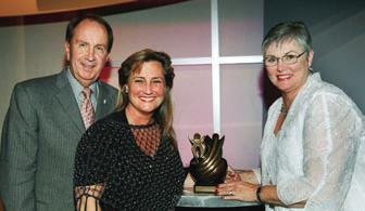 Left to right:      Bill Alcorn, Senior Vice President and Controller, Chief Purchasing Officer, JCPenney Company, Inc., who introduced 2007 Applause Award recipient Heather Herndon Wright, Senior Director of Affiliate Relations, WBENC and Linda Denny, President and CEO, WBENC.
