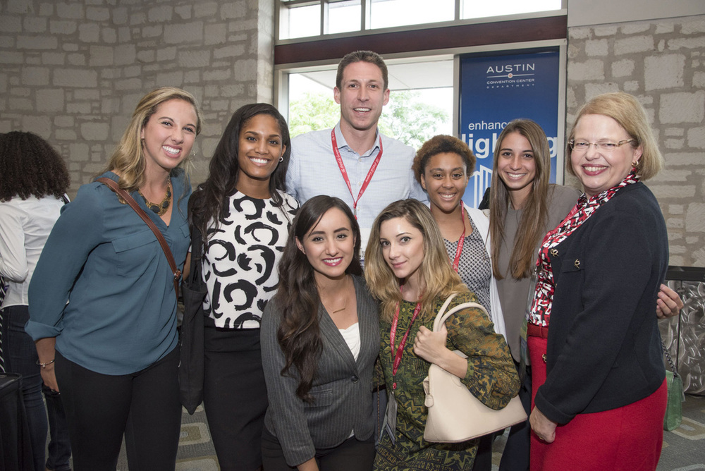 2015 SEP Students with Andrew Gaeckle, Senior Manager,  Strategic Programs, WBENC (center), and Hanna Kain, President & CEO, Alom.