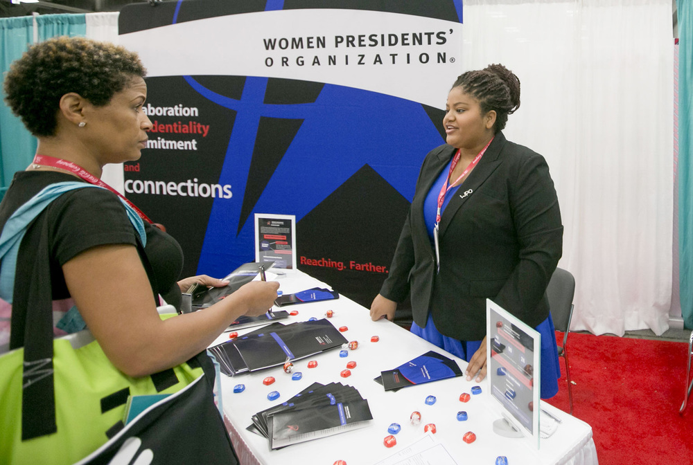 The Women Presidents' Organization speaking with WBEs at the National Conference & Business Fair