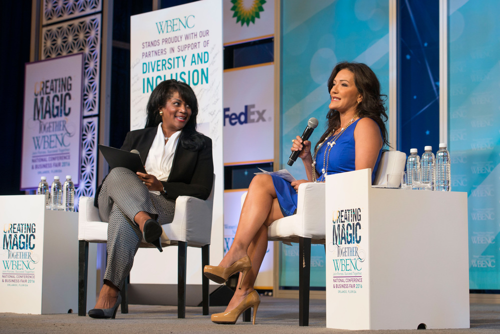 Regina Heyward (Wells Fargo) and Nina Vaca (Pinnacle Group)