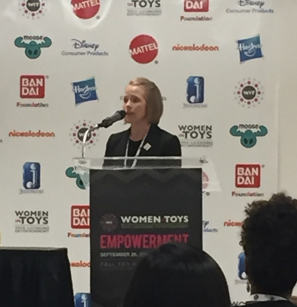 Walmart's Director of Corporate Affairs, Sarah Wilson, welcoming the attendees to Women In Toys Empowerment Day 2016