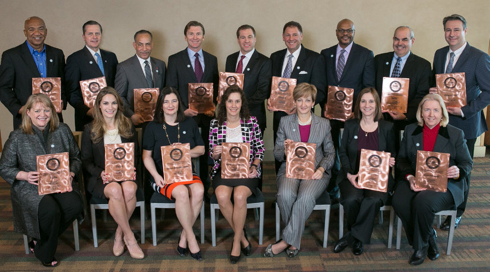 SEATED, CORPORATE REPRESENTATIVES     (L     TO R): Best Buy, TIAA-CREF, New York Life Insurance Company, MGM Resorts International, FedEx, Nokia, Kaiser Permanente     STANDING, CORPORATE REPRESENTATIVES     (L     TO R): The Kroger Co., Nationwide, DuPont, Ericsson, Monsanto Company, Robert Half, Cargill, MetLife, DTE Energy Company