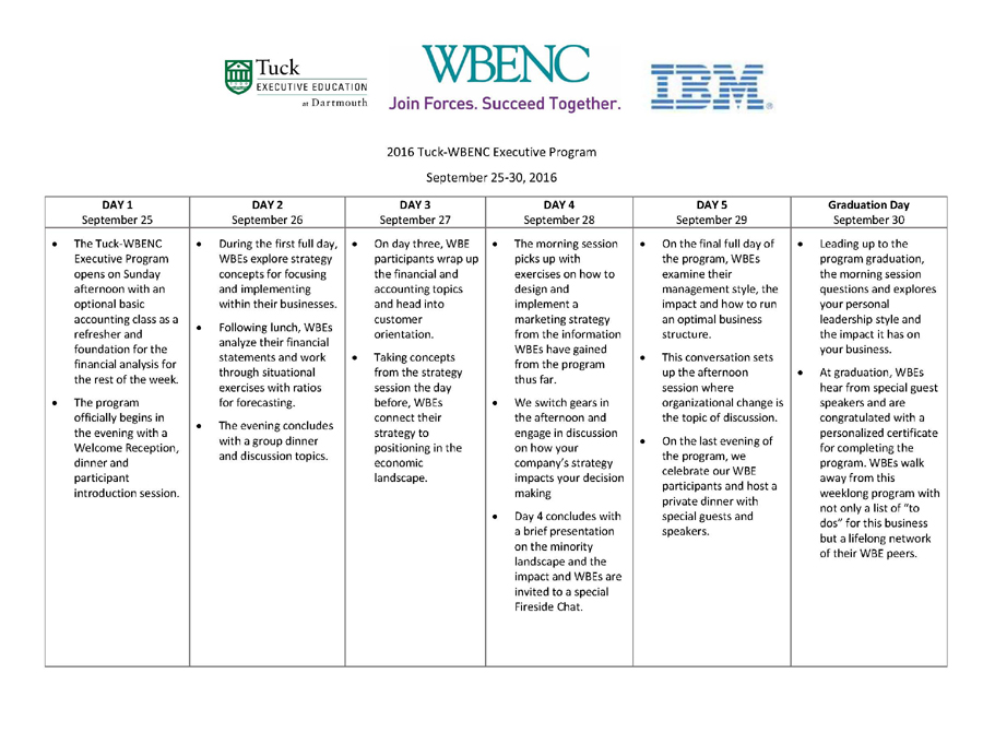 2016-Tuck-WBENC-Executive-Program-Schedule-Overview