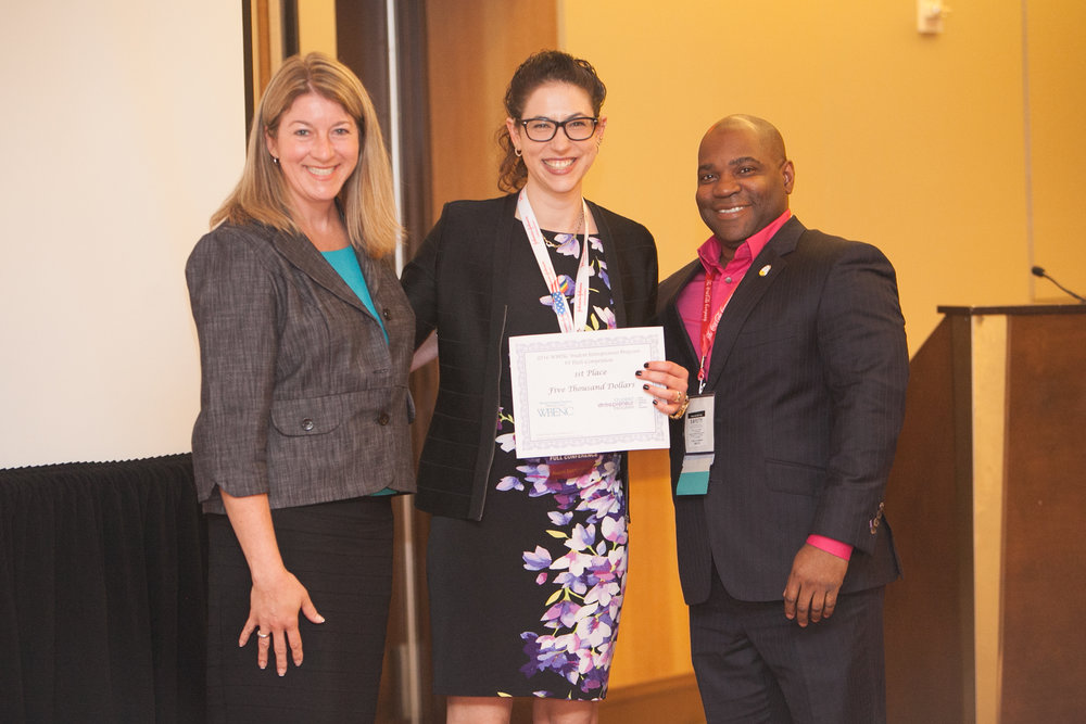 Ya-El Mandel-Portnoy, first place winner in the 2016 EY WBENC SEP Pitch Competition, with her WBE mentor and corporate mentor.