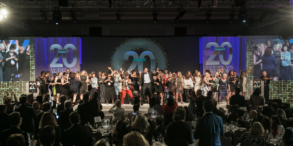 Dancing on stage at the 2017 Summit & Salute