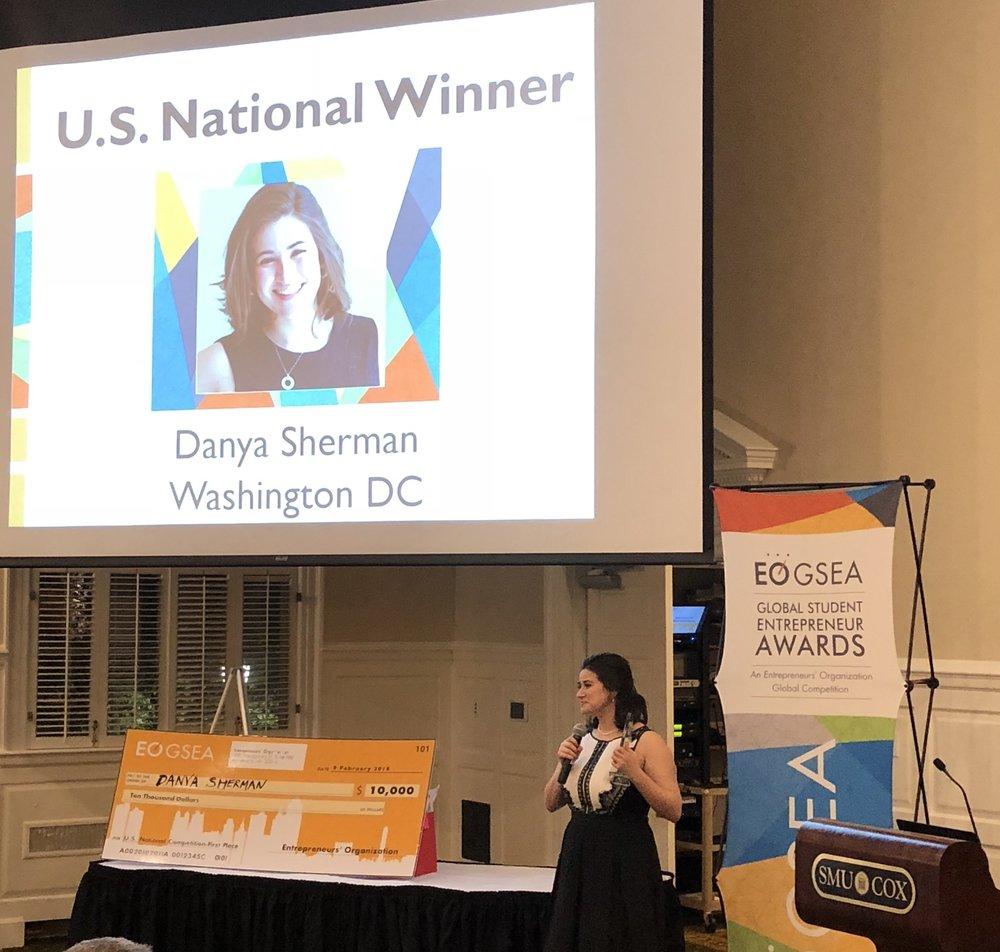Danya Sherman, US National Winner