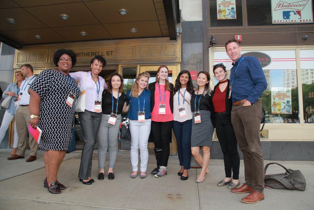 Lisa and fellow student entrepreneurs.