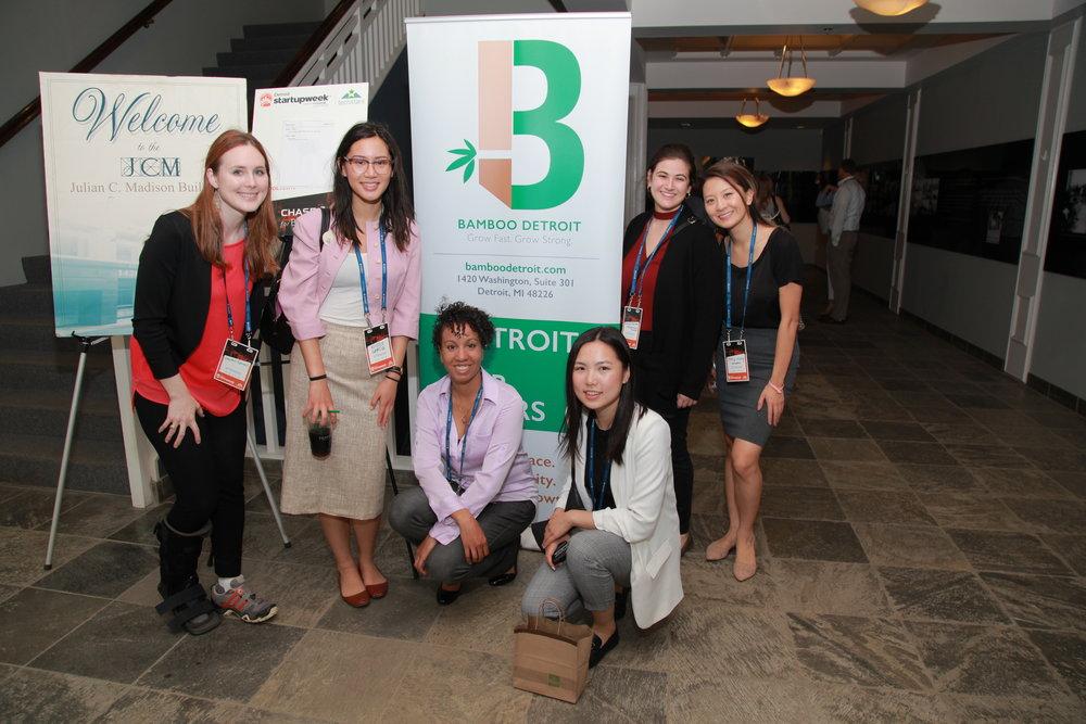 Lauren and fellow student entrepreneurs at Bamboo Detroit.