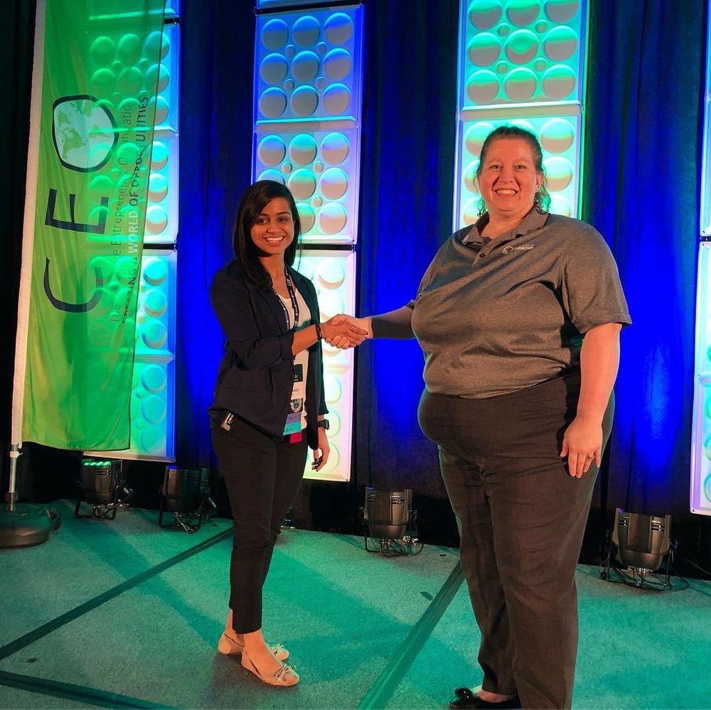 Mona Amin and Tammy Dorsey, founder of Prenatal Hope and member of the 2019 WBENC Student Entrepreneur Program cohort.